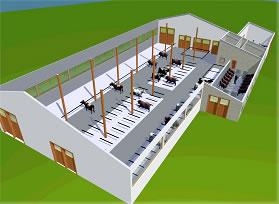 neubau milchvieh laufstall in mindelheim. Black Bedroom Furniture Sets. Home Design Ideas